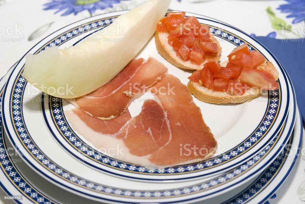 italian antipasto royalty-free stock photo