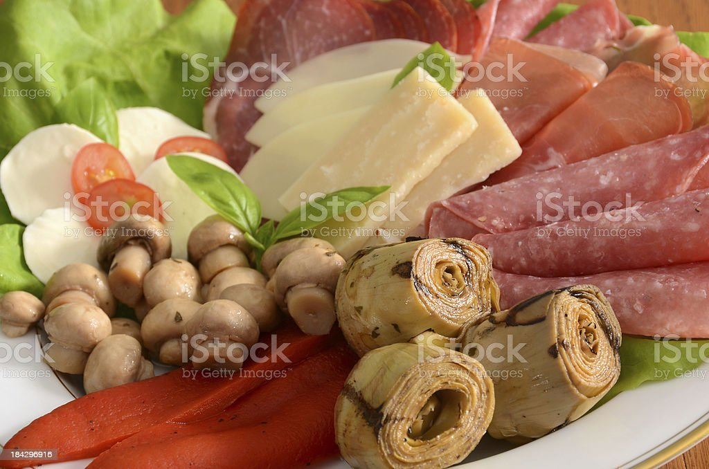 Italian Antipasto Platter royalty-free stock photo
