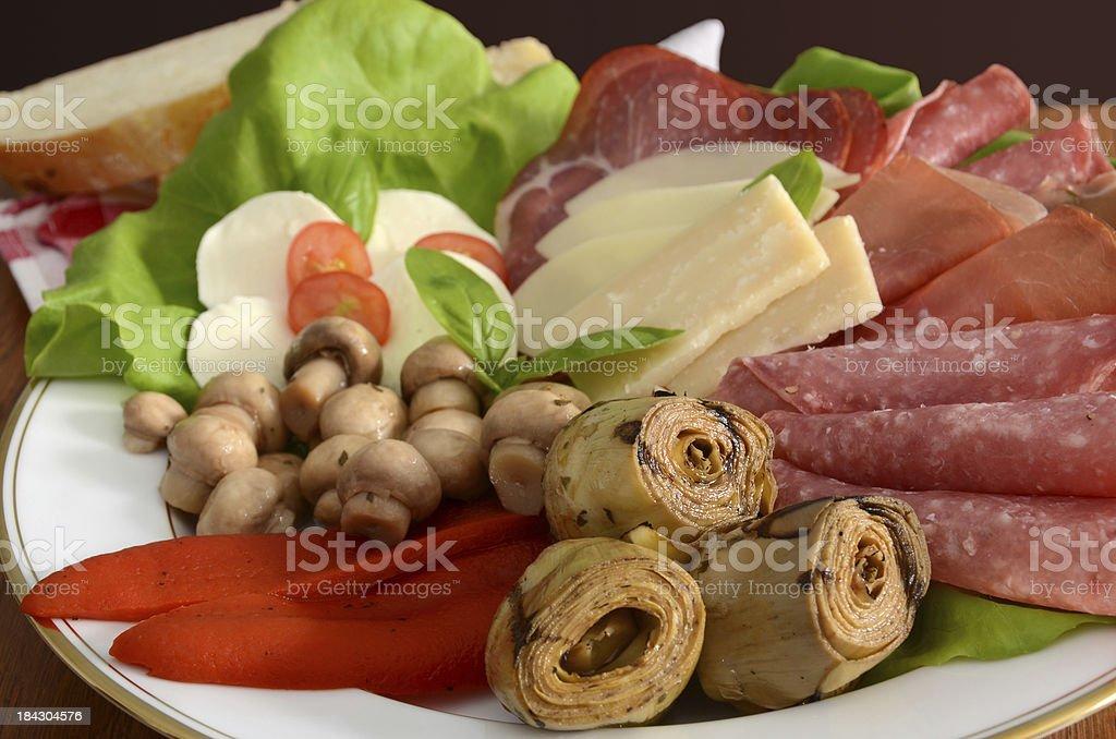 Italian Antipasto Platter royalty-free stock photo
