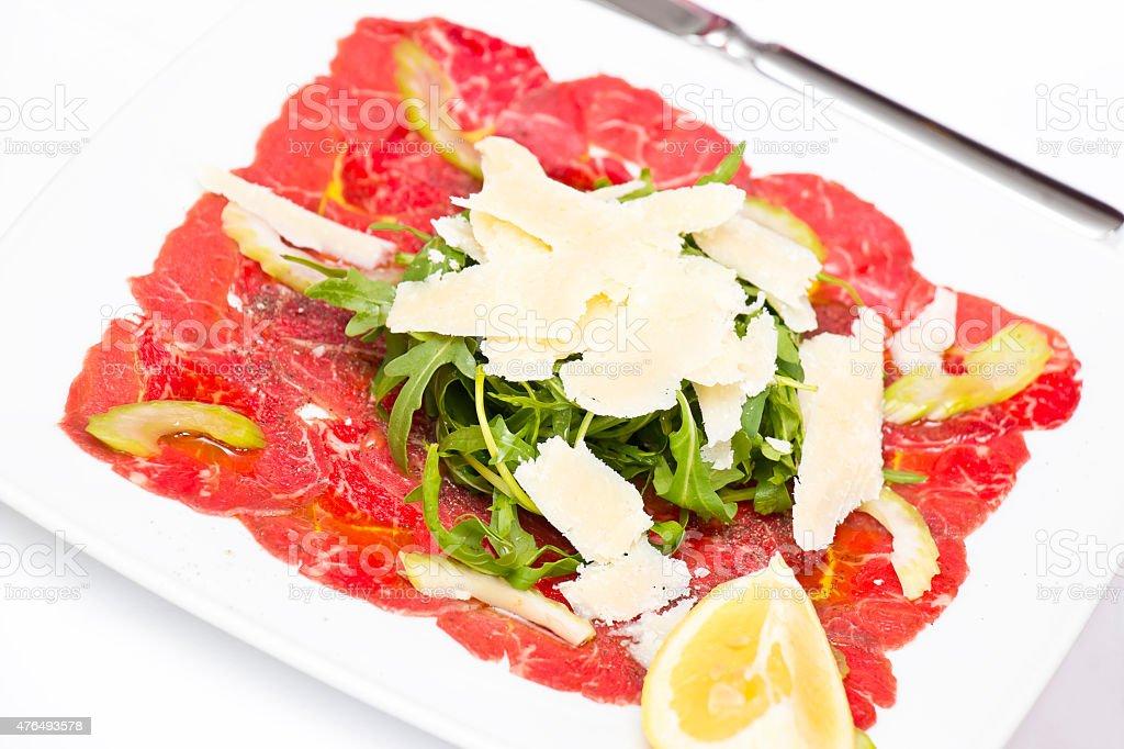 Italian Appetizer Carpaccio stock photo