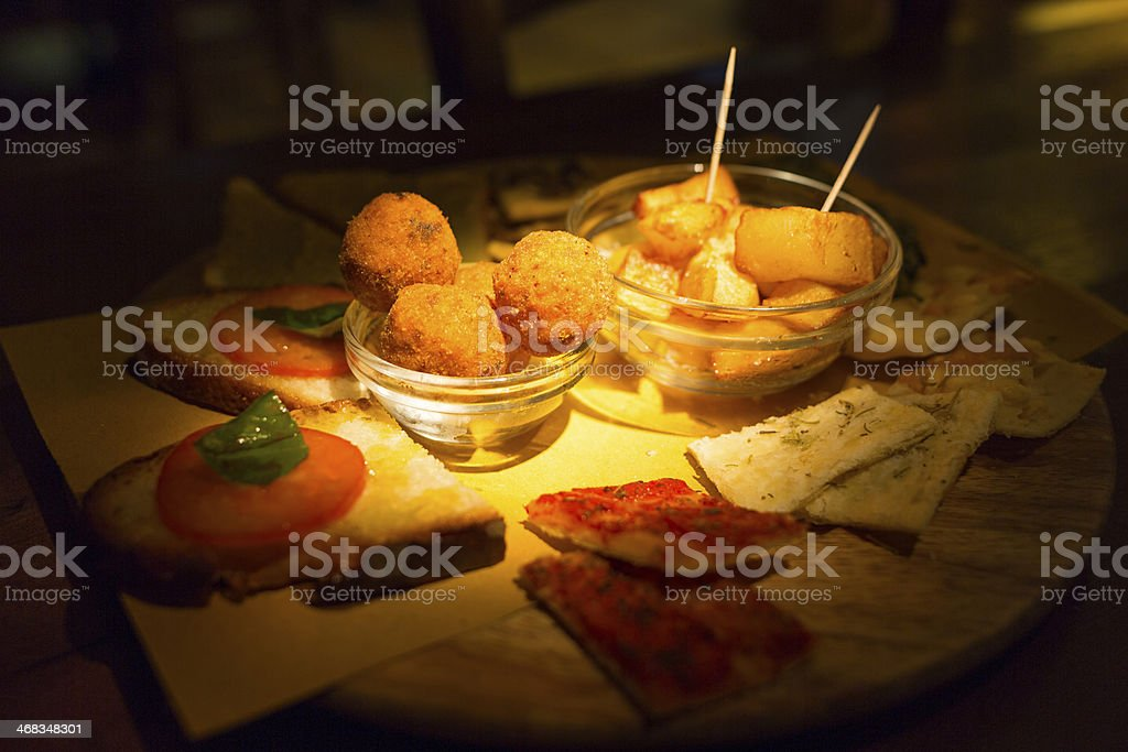 Italian appetizer - Finger food stock photo