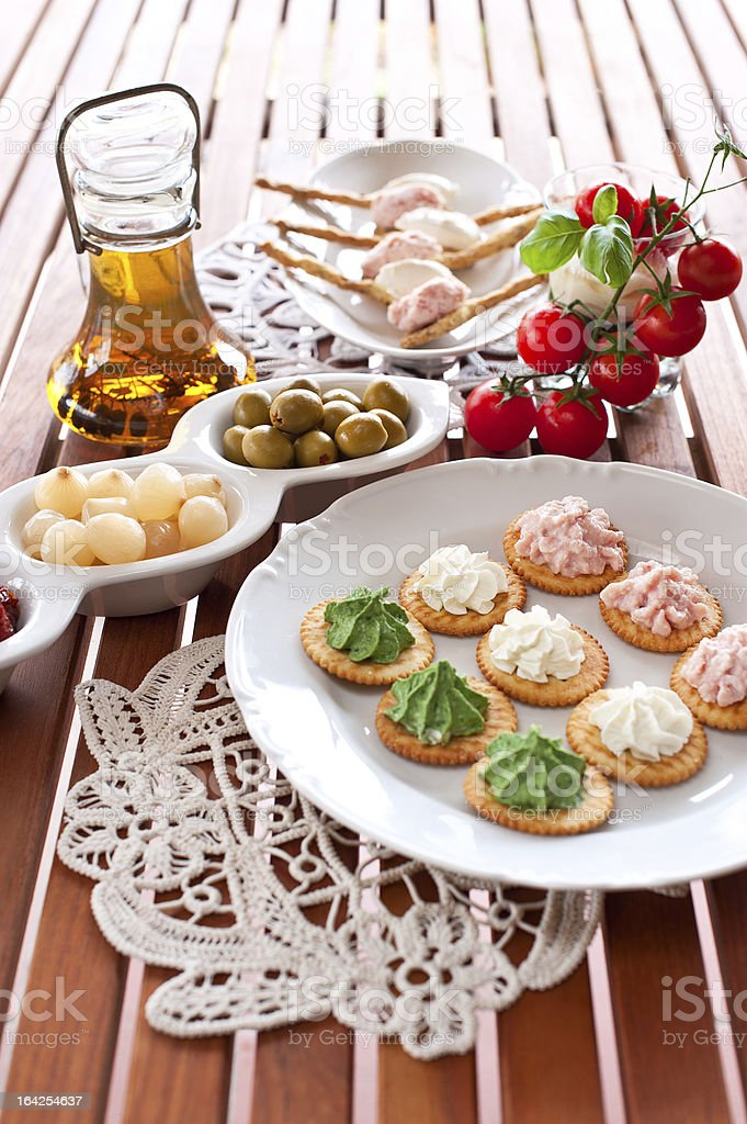 Italian Appetizer tricolore royalty-free stock photo