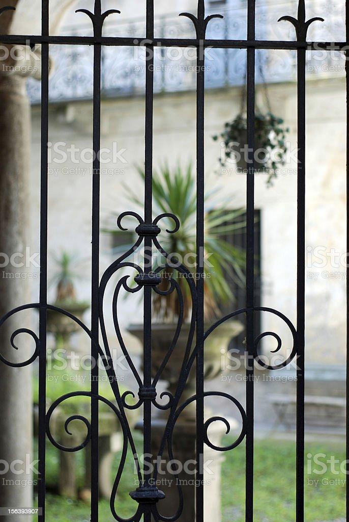 Italian architecture gate backyard royalty-free stock photo