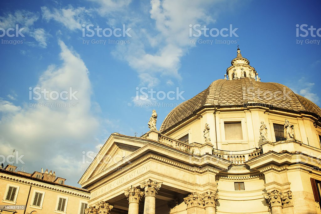 Italian Architecture Roman Church Dome royalty-free stock photo