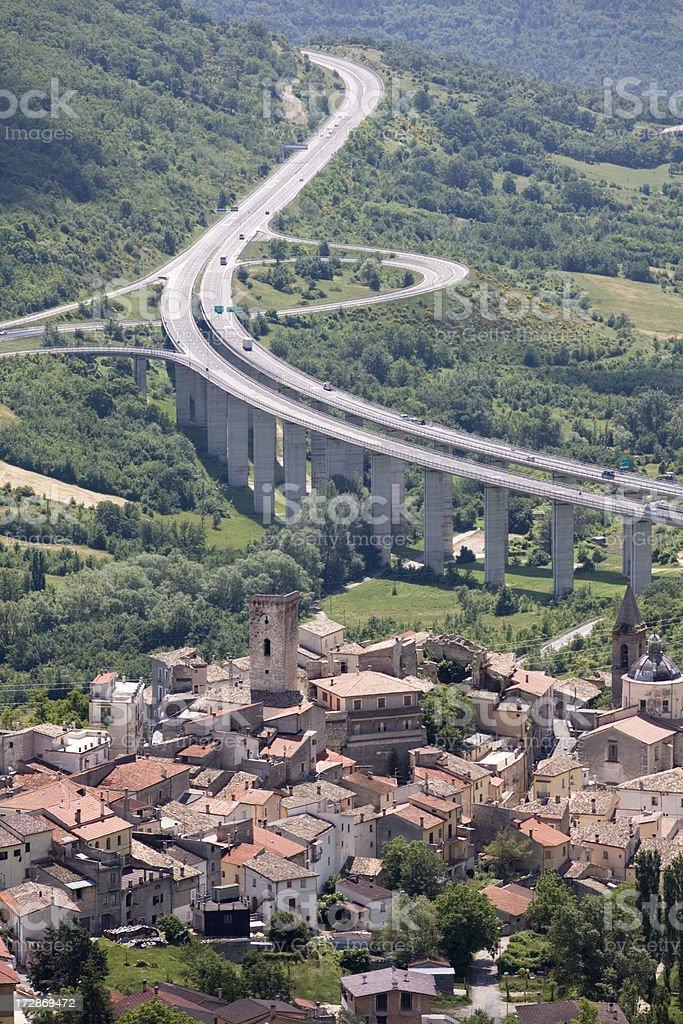 Italian autostrada. royalty-free stock photo