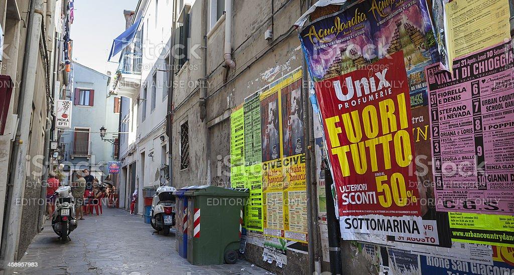 Italian backstreet royalty-free stock photo