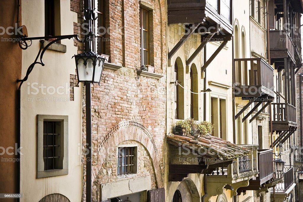 Italian balconies royalty-free stock photo