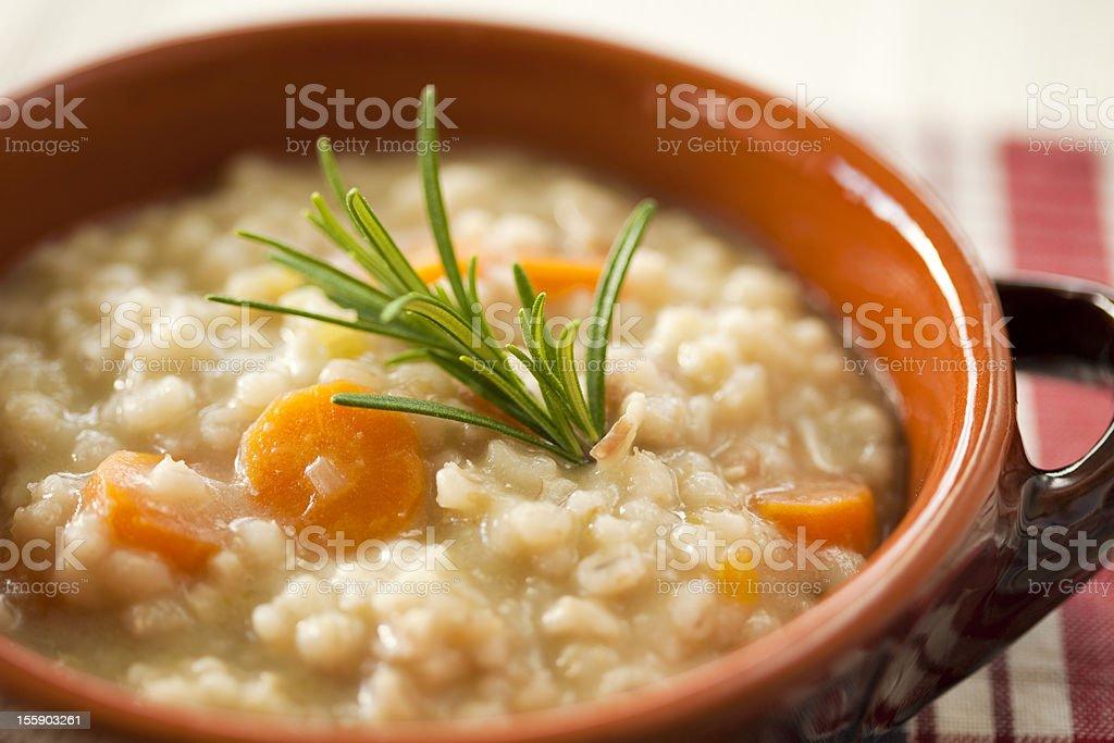 italian barley soup royalty-free stock photo