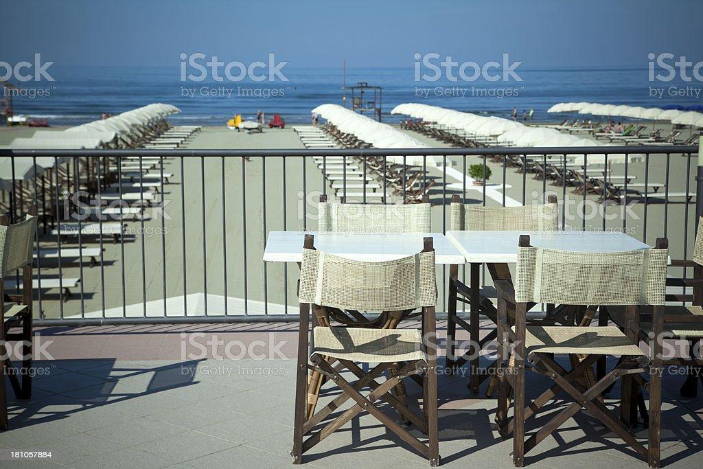 Italian Beach Club stock photo