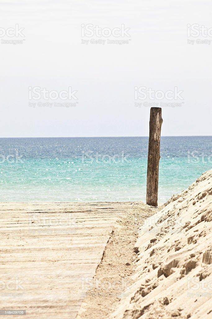 Italian beach stock photo
