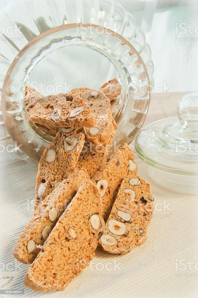 Italian biscotti royalty-free stock photo