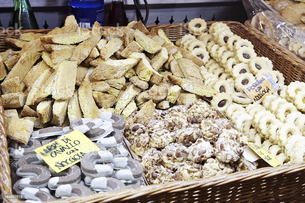 Italian biscuits on sale stock photo