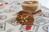 Italian biscuits with almonds - cantuccini