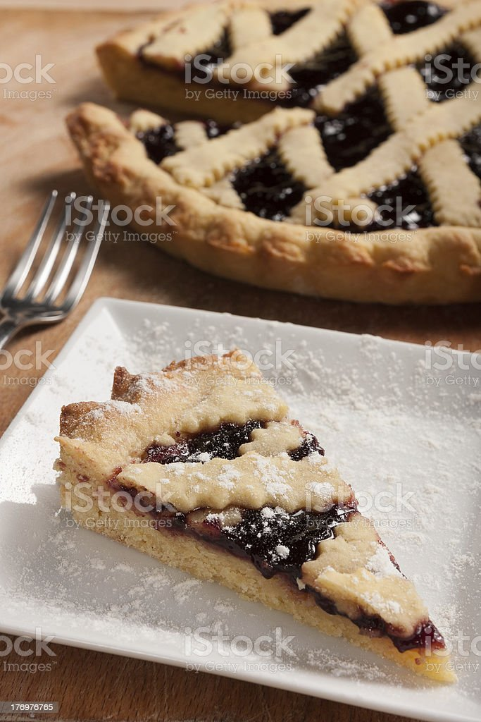 Italian blackberry tart royalty-free stock photo