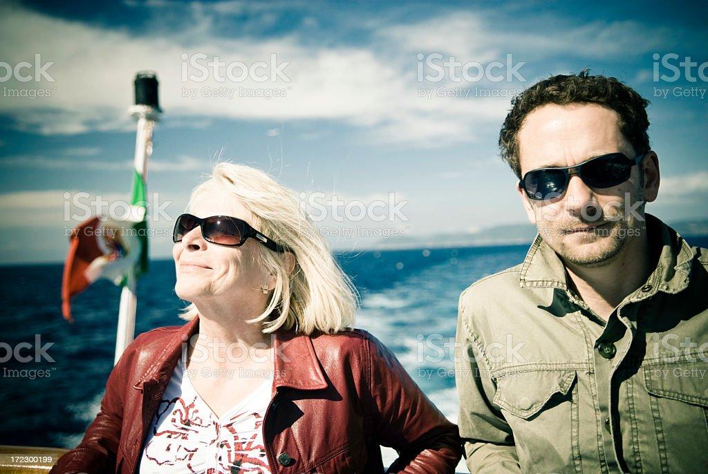 Italian Boat Trip royalty-free stock photo