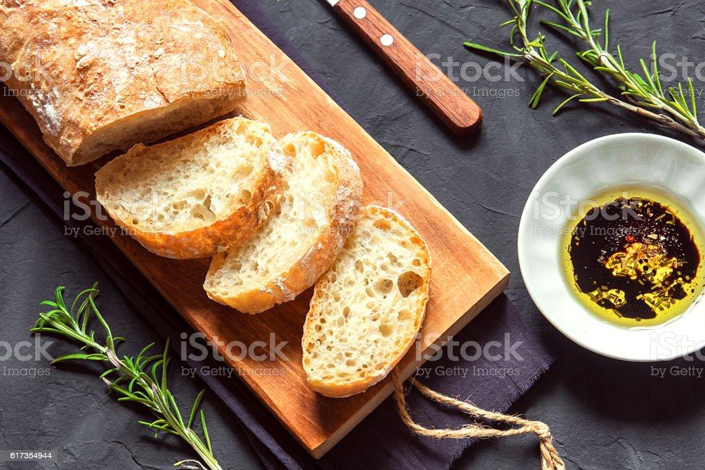 Italian bread Ciabatta stock photo