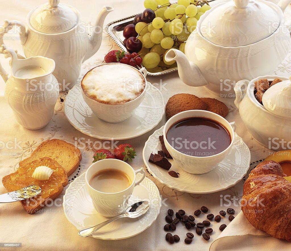Italian breakfast royalty-free stock photo