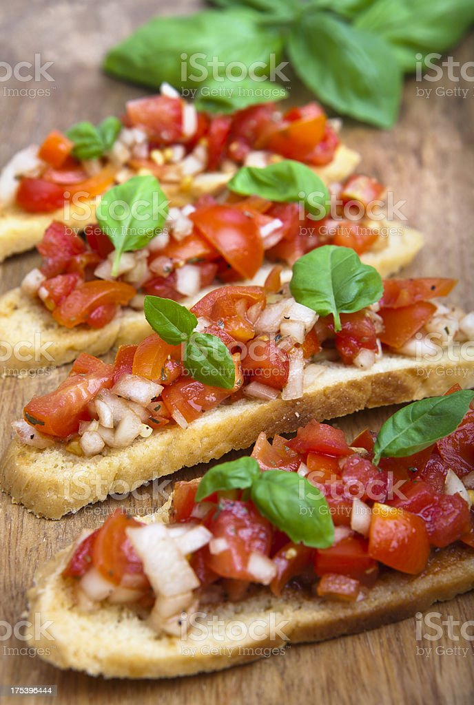 Italian brushetta stock photo