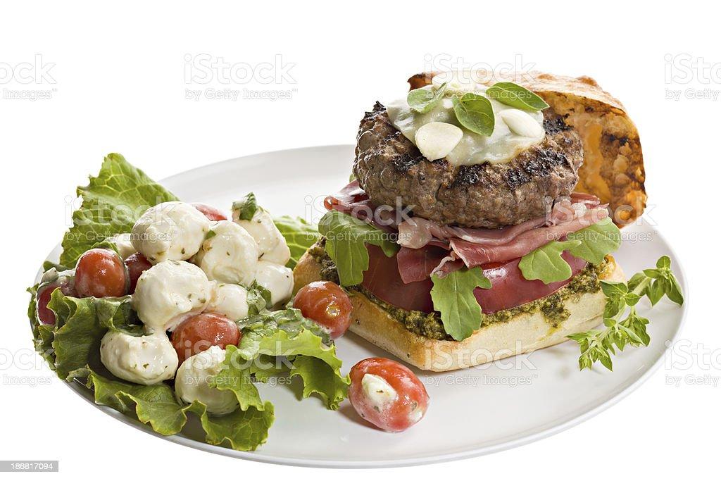 Italian Burger royalty-free stock photo