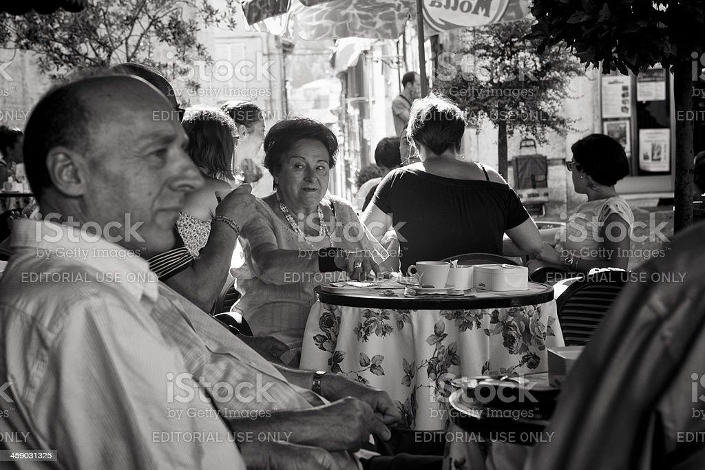 italian cafe royalty-free stock photo