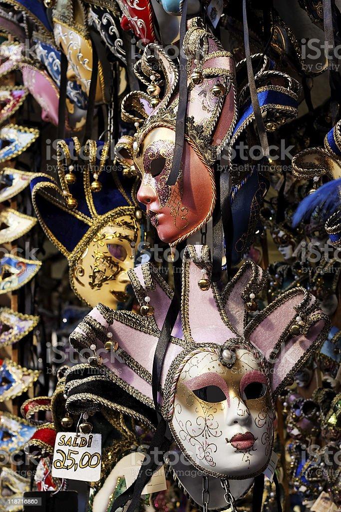 Italian carnival masks on sale royalty-free stock photo