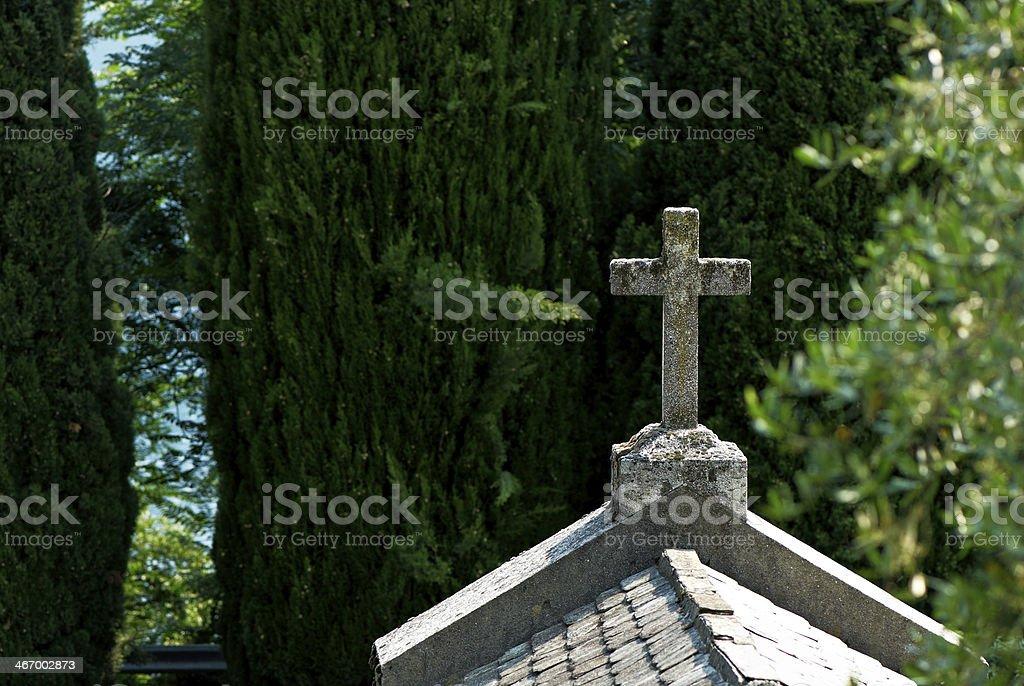 Italian cemetery stock photo
