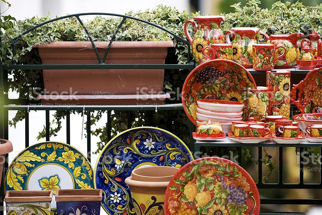 Italian ceramics royalty-free stock photo