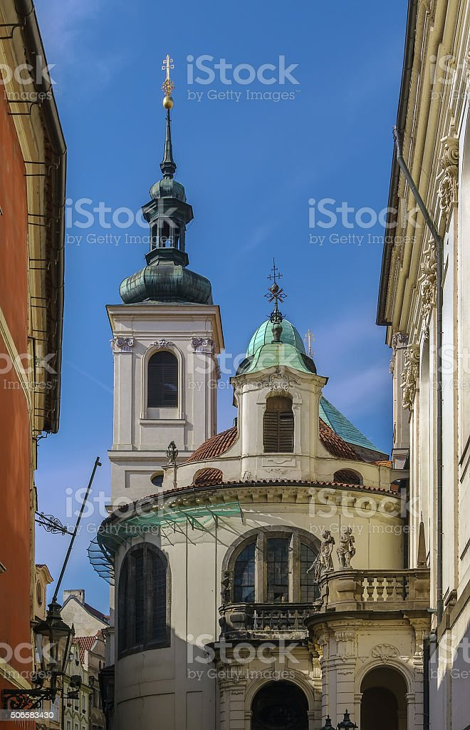 Italian Chapel of the Assumption of Our Lady,  Prague stock photo