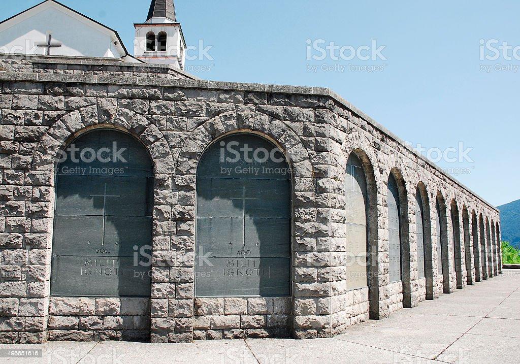 Italian Charnal House at Kobarid stock photo