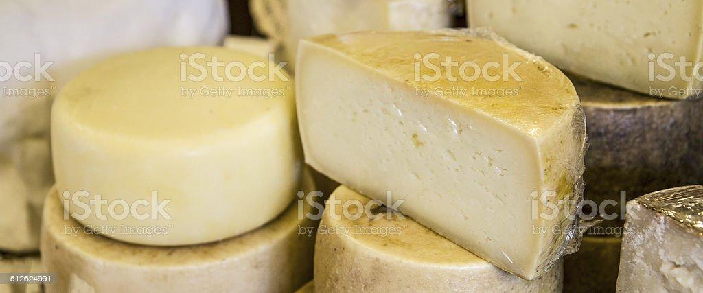 Italian cheese platter stock photo