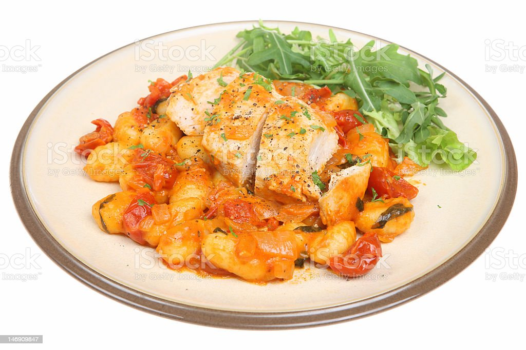 Italian Chicken Casserole with Gnocchi royalty-free stock photo