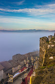 Italian Christmas: panoramic view from Limatola Castle,(Benevento). Campania ITALY.