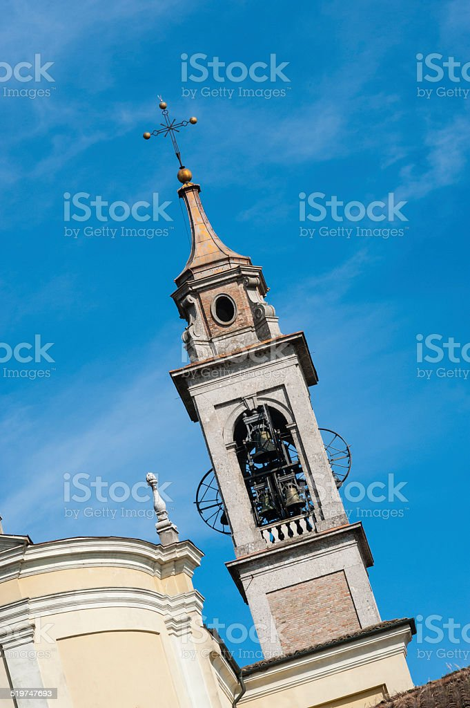 Italian Church and Campanile stock photo