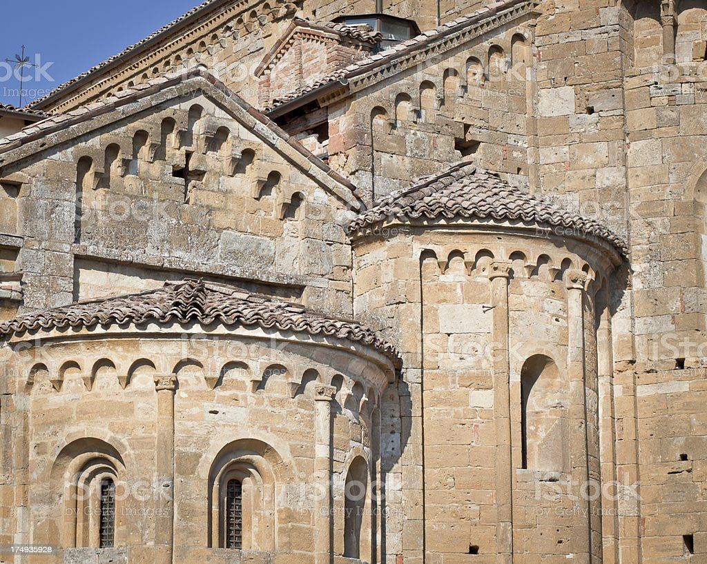 Italian Church, Detail Of Roofs royalty-free stock photo
