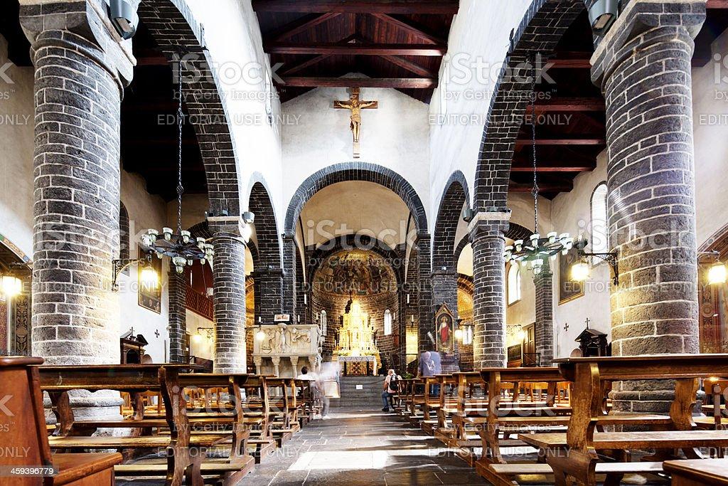 Italian church interior stock photo