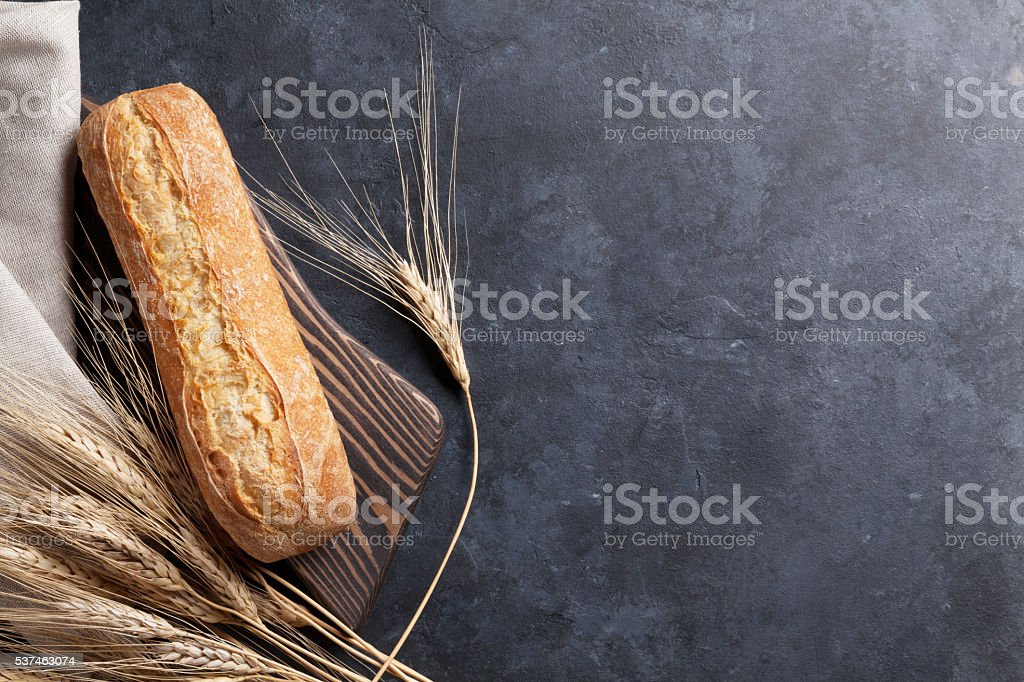 Italian ciabatta bread stock photo