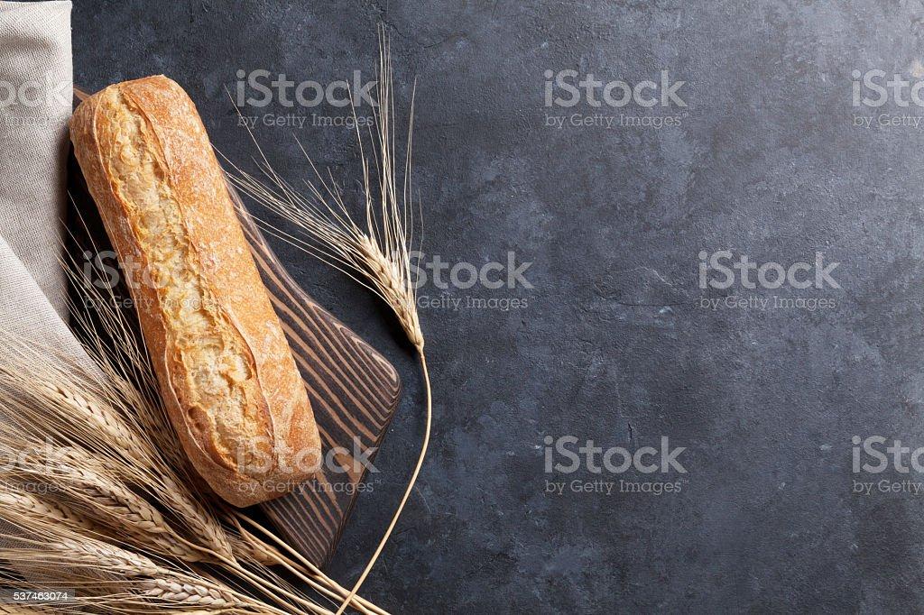 Italian ciabatta bread stock photo
