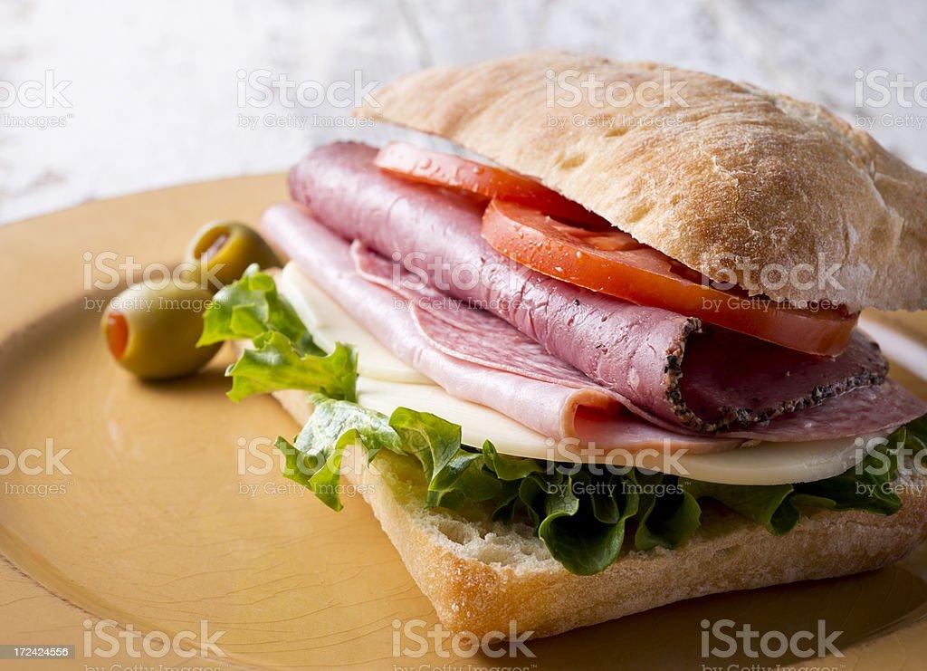 Italian Ciabatta Sandwich royalty-free stock photo