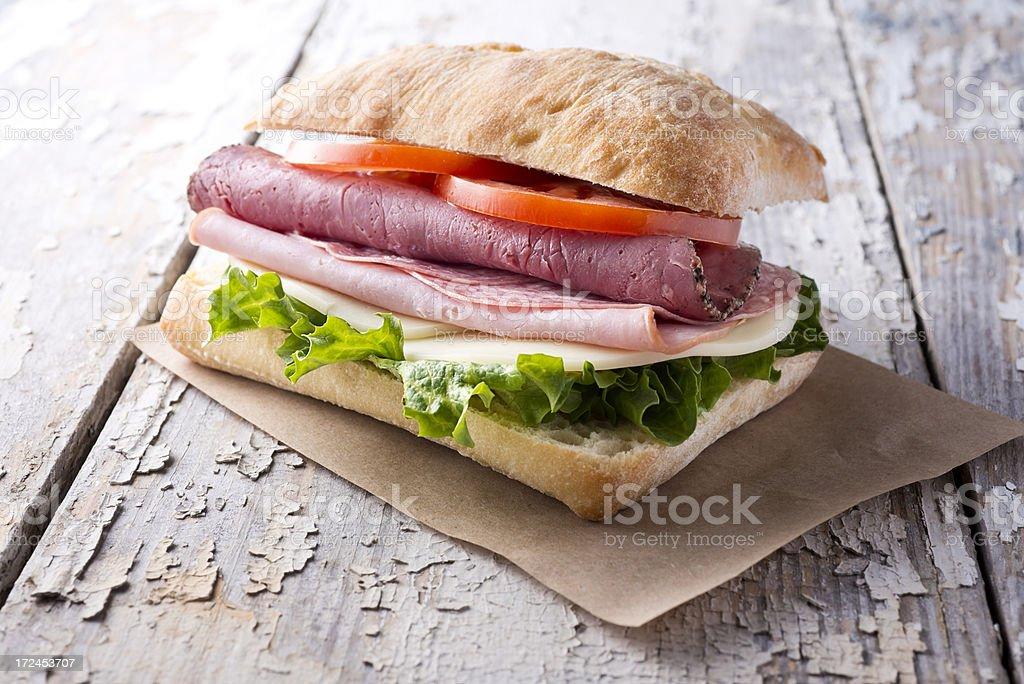Italian Ciabatta Sandwich stock photo