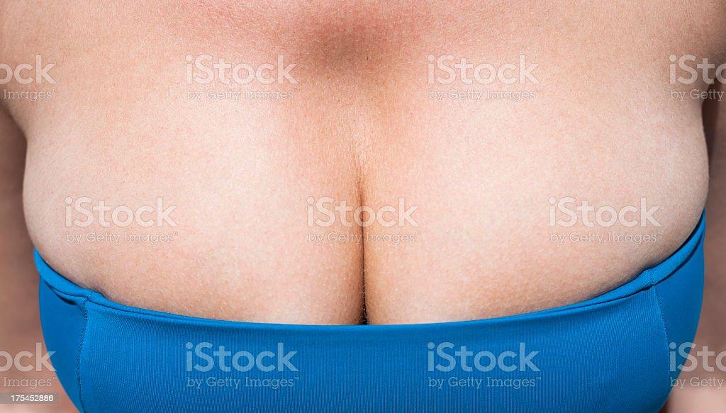 Italian cleavage stock photo