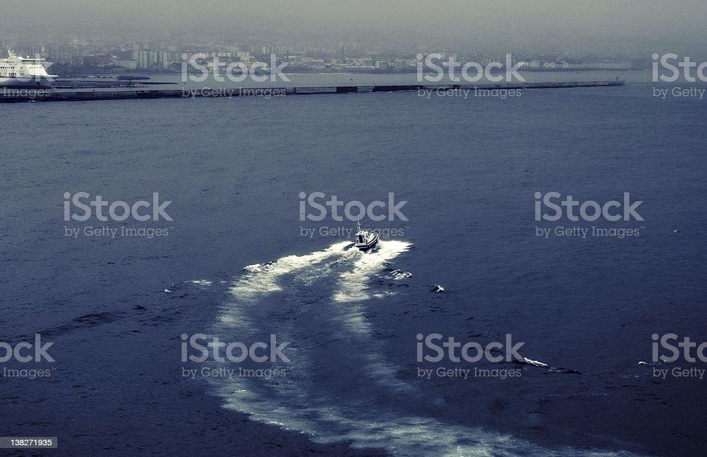 Italian coast guard royalty-free stock photo