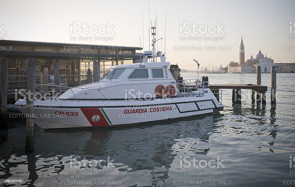 Italian Coast Guard royalty-free stock photo