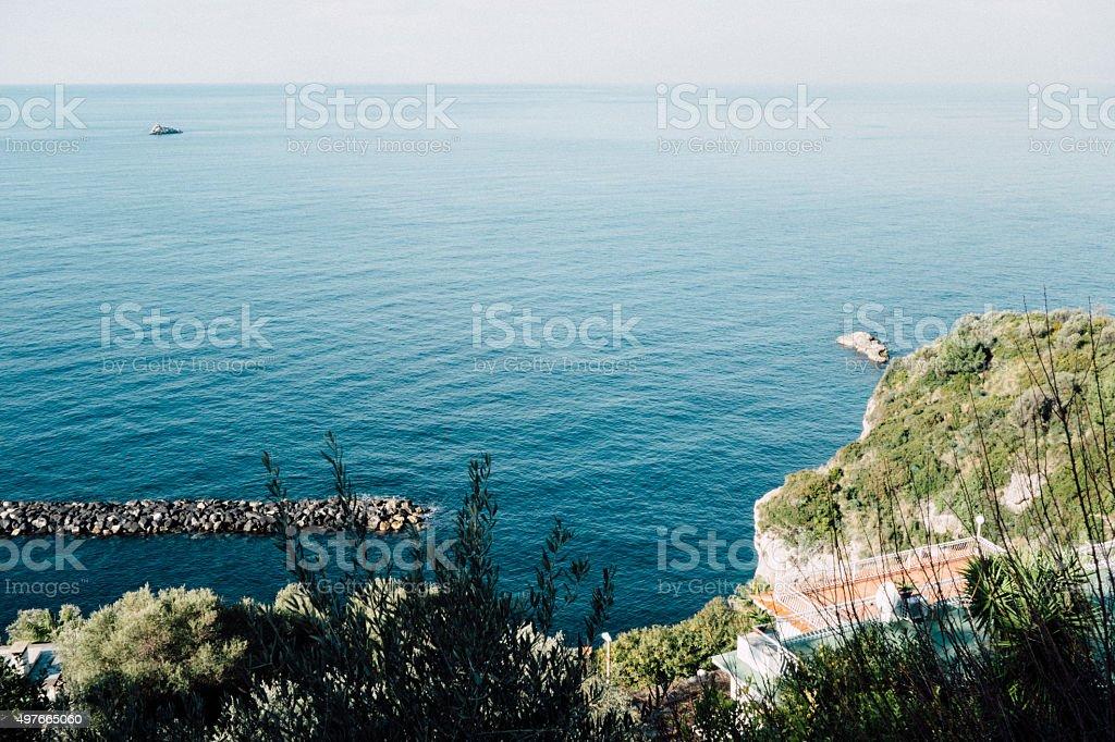 Italian Coastline and Sea stock photo