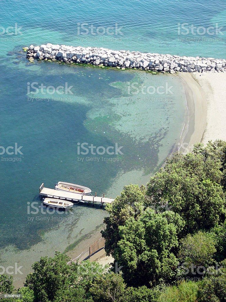 Italian coastline royalty-free stock photo