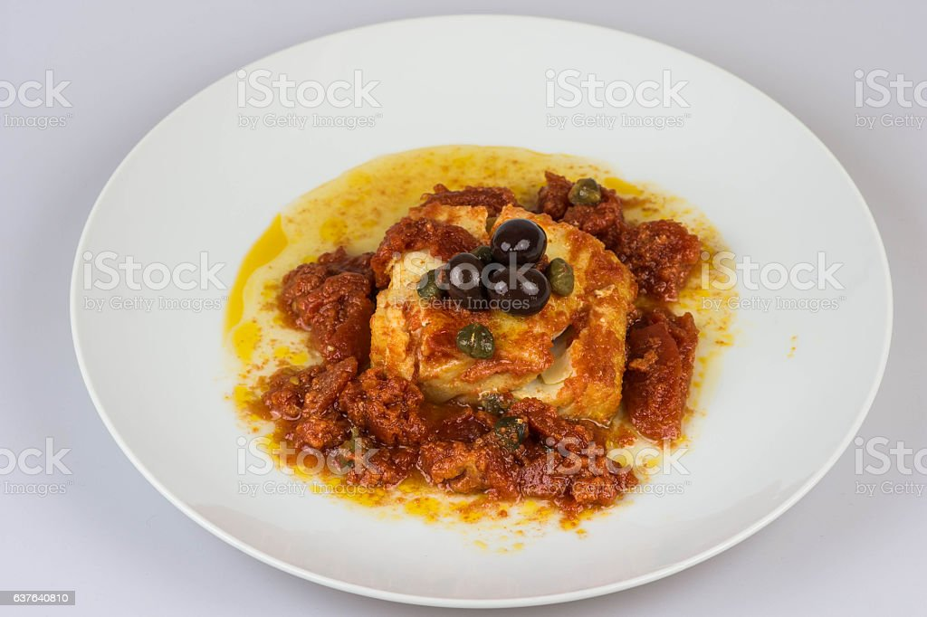 Italian codfish isolated on a white background stock photo
