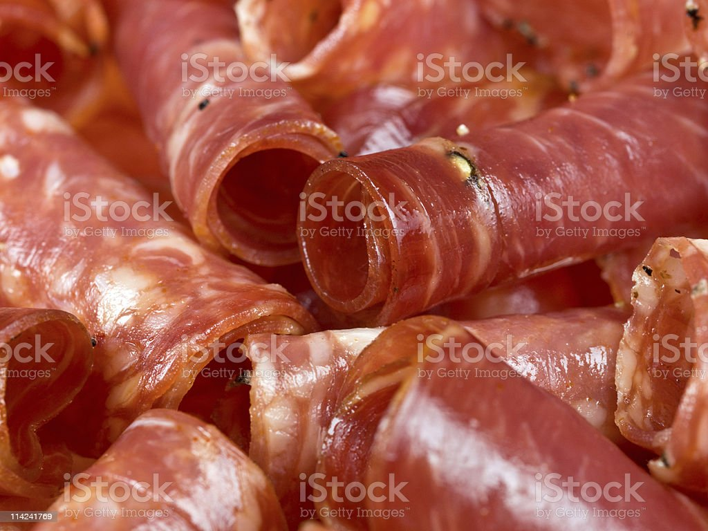 Italian cold cuts close up royalty-free stock photo