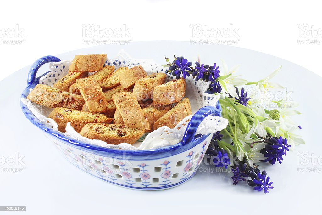 Italian Cookies cantuccini royalty-free stock photo