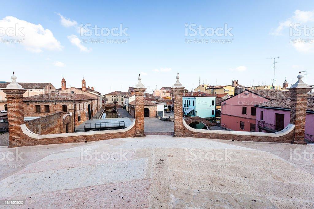 Italian country, Comacchio stock photo