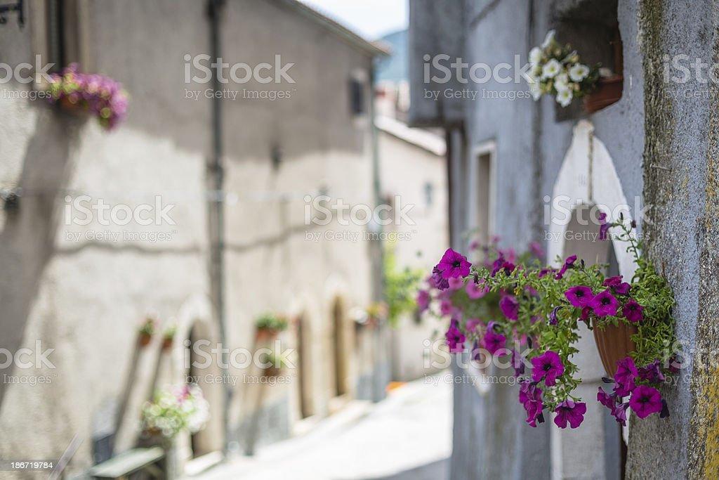 Italian country in Abruzzo royalty-free stock photo