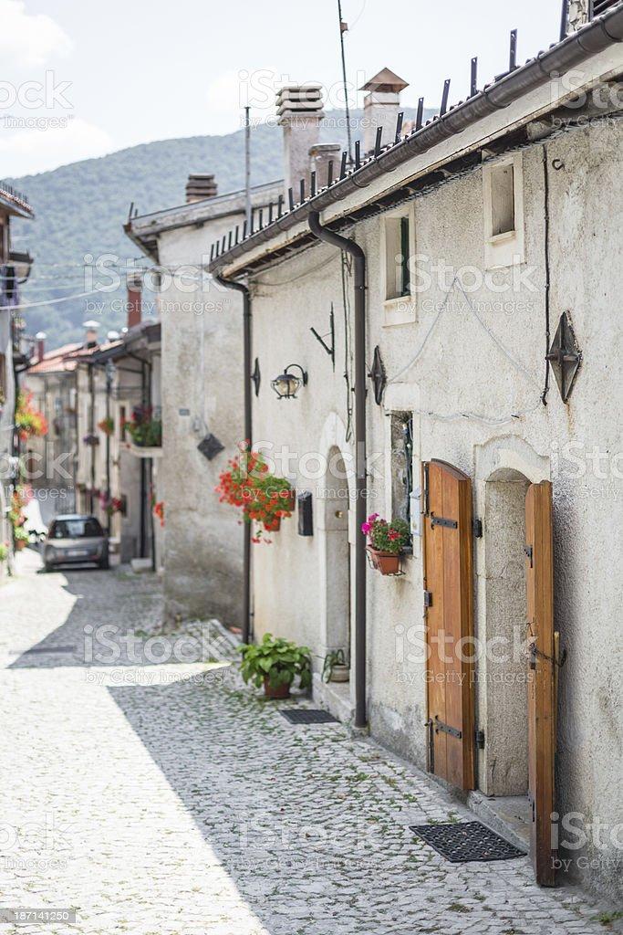 Italian country in Abruzzo stock photo